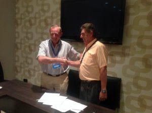Luciano Saez y Miguel Prados. Presidentes de SEIS y APISA
